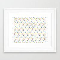 sprinkles Framed Art Prints featuring Sprinkles by Vera Mota