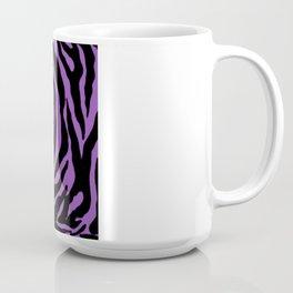 Purple Zebra Background Coffee Mug