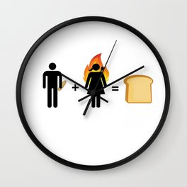 toast babies Wall Clock
