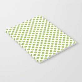 Kiwi Fruit Pattern Green Notebook