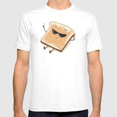 Toast! Mens Fitted Tee MEDIUM White