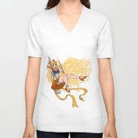 sailor venus V-neck T-shirts featuring Sailor Venus by Teo Hoble