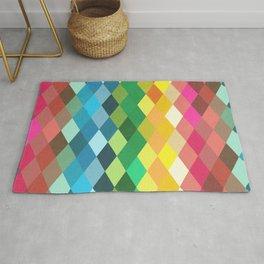 Diamond Color Spectrum Pattern Rug