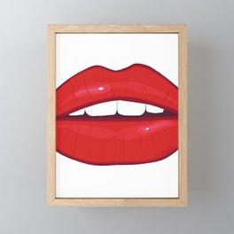 Hot lips Framed Mini Art Print