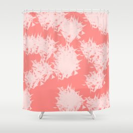 Vivid Tangerine Splatter Shower Curtain