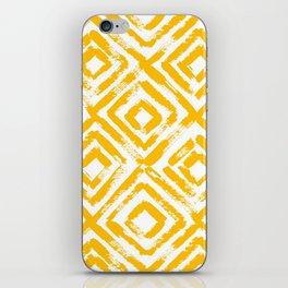 Amber Yellow Geometric Print iPhone Skin
