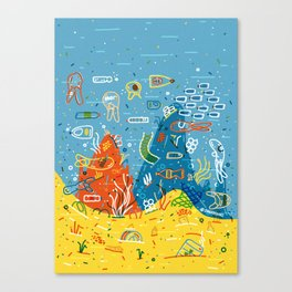 Plastic Sea Canvas Print