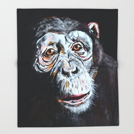 Chimpanzee: One Survivor Throw Blanket