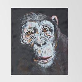 Chimpanzee: One Survivor Throw Blanket