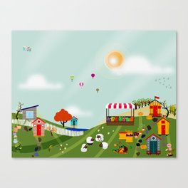 Loungin in the mornin Canvas Print