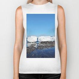 Icebergs along the Tidal shelf Biker Tank