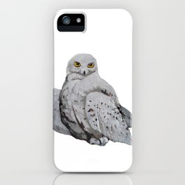 Snowy Owl Fluffy Feathered Hoot iPhone Case
