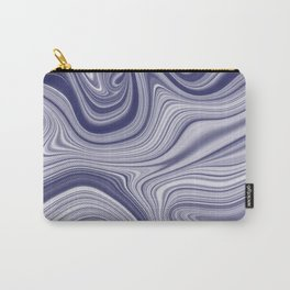 EDDY shades of purple & white in abstract agate pattern Carry-All Pouch