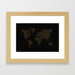 The World Black Framed Art Print