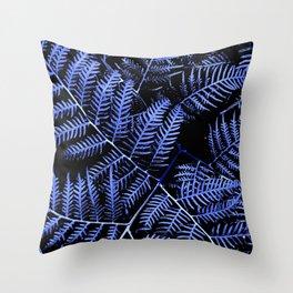 Blue Bracken Throw Pillow
