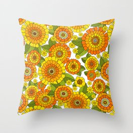 Busy bunch Throw Pillow