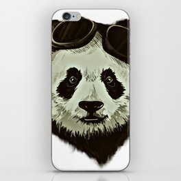 Panda Bear in Hipster Style iPhone Skin