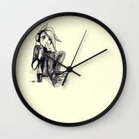 madrid Wall Clocks featuring Madrid by TrueLoveStory