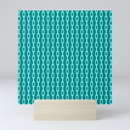 Chainlink No. 1 -- Cyan Mini Art Print