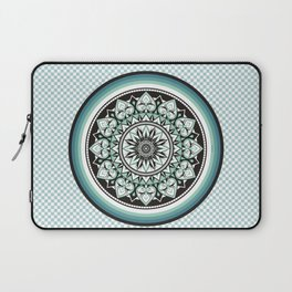 Mandala Design Sea Blue Aqua Theme Laptop Sleeve