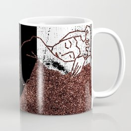 Pink Glitter Nude One Line Coffee Mug