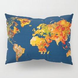 World Map 41 Pillow Sham