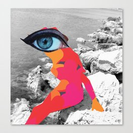 SiLuEtte 1 woman Canvas Print