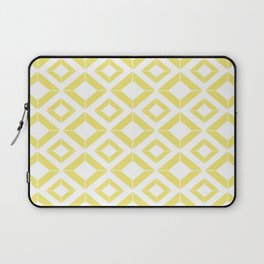 Abstract geometric pattern - gold and white. Laptop Sleeve