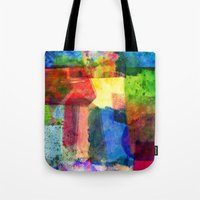 water color Tote Bags featuring water color by Pao Designs