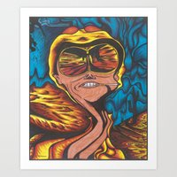 fear and loathing Art Prints featuring Fear and Loathing  by Katrina Berkenbosch