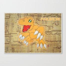 Digimon Adventure - Agumon Canvas Print