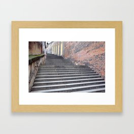 Steps, Prague Castle. Framed Art Print