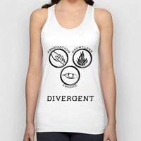 divergent Tank Tops featuring Divergent (Black) by Lunil