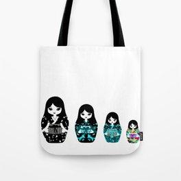 Japanese Matriochka Tote Bag