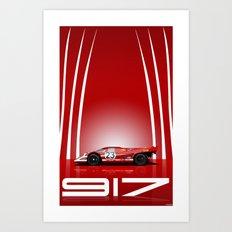 Porsche 917-023 1970 Le Mans Winner Art Print
