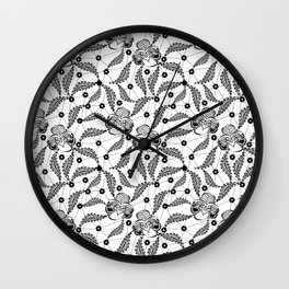 Black vintage lace . Wall Clock