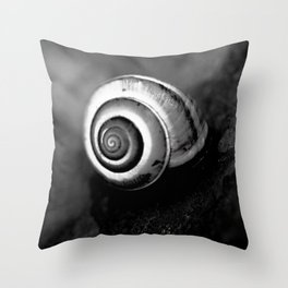 Black and White Shell Throw Pillow
