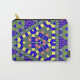 Muted Blue Green Yellow Abstract Carry-All Pouch