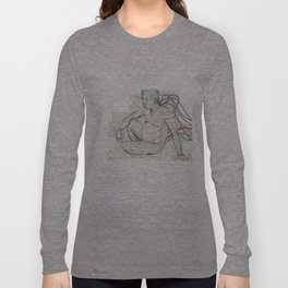 man sitting  Long Sleeve T-shirt