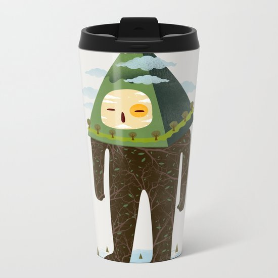 The Man Mountain Metal Travel Mug