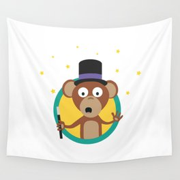 Monkey wizard with stars Wall Tapestry