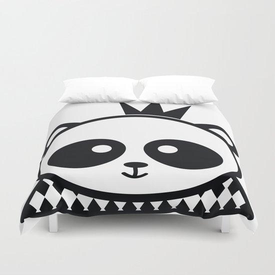 Panda Prince Duvet Cover