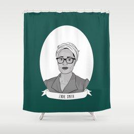 Zadie Smith Illustrated Portrait Shower Curtain