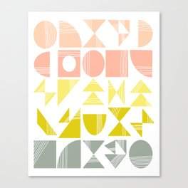 Organic Abstract Shapes in Soft Pastel Colors Canvas Print