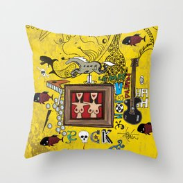 Rock and Fun Throw Pillow