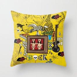 Rock and Fun Throw Pillow