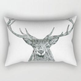 Zentangle Deer Ink Portrait Rectangular Pillow
