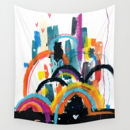RAINBOW City Wall Tapestry