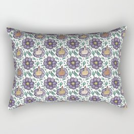 bad flower Rectangular Pillow