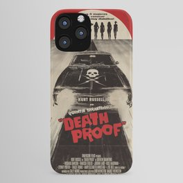 Death Proof Movie Poster Written And Directed By Quentin Tarantino Spanish Version Artwork, Posters, iPhone Case
